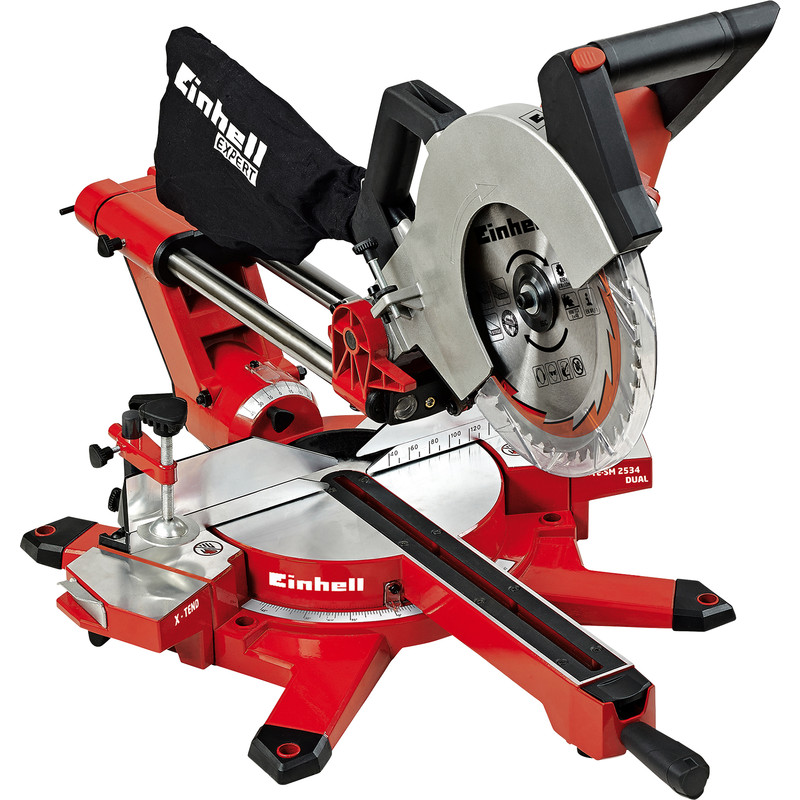 Einhell GE SM2534 250mm Expert Double Bevel Sliding Crosscut Mitre Saw