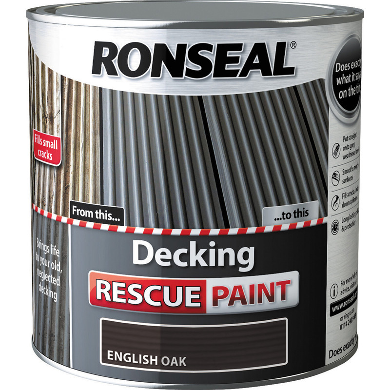 Ronseal Garden Furniture Stain Ronseal decking rescue paint 25l english oak workwithnaturefo