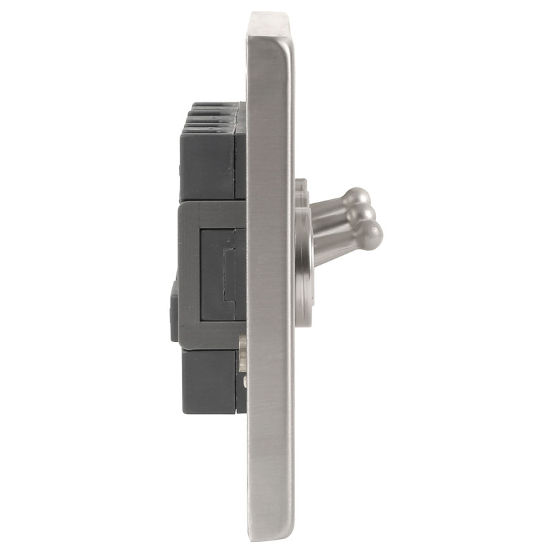 Click Deco Satin Chrome Toggle Switch