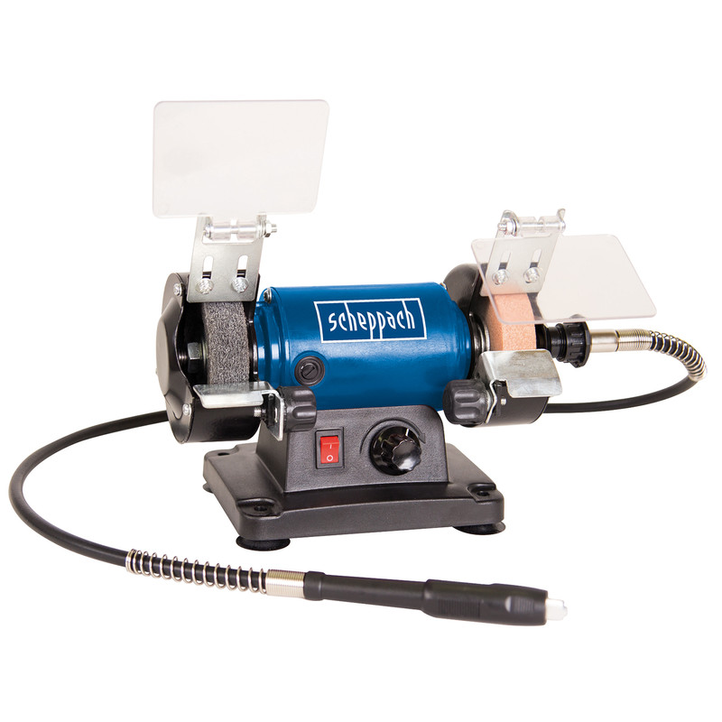 Scheppach HG34 120W 75mm Bench Grinder and Accessory Kit