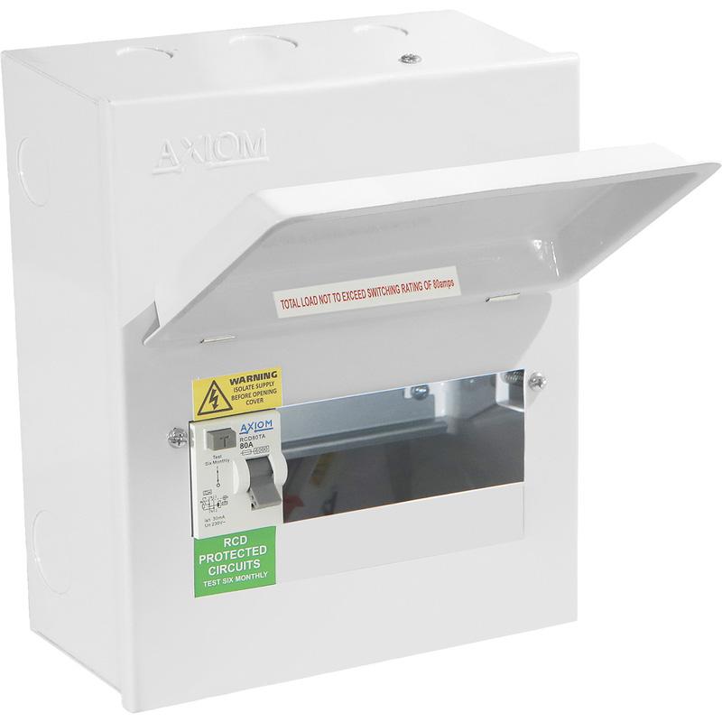 Axiom Metal Consumer Unit + 80A Type A RCD