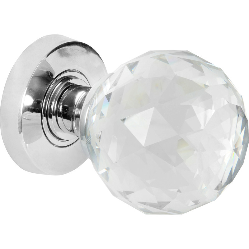 Glass Faceted Mortice Knob