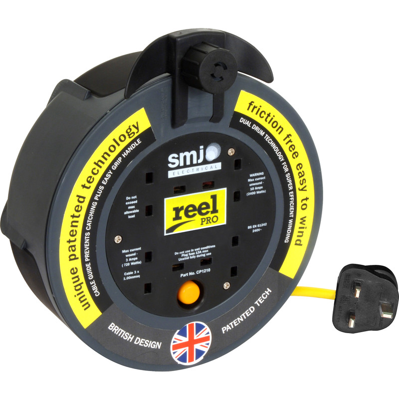 SMJ Reel Pro 4 Socket 13A Enclosed Cable Reel