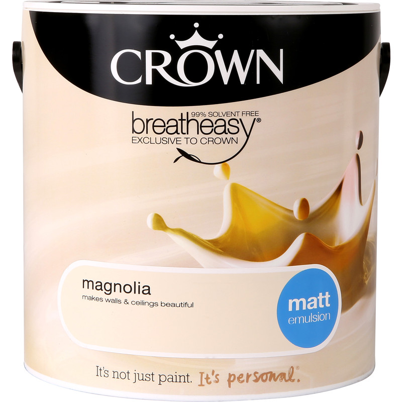 Crown Breatheasy Matt Emulsion 2.5L Magnolia