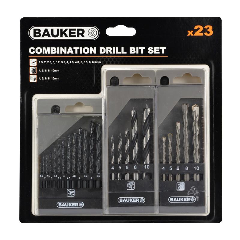 Bauker Combination Drill Bit Set