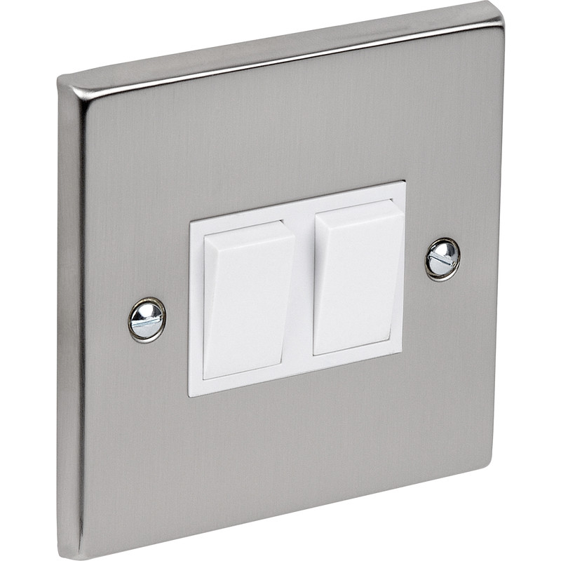 Satin Chrome / White Switch 10A