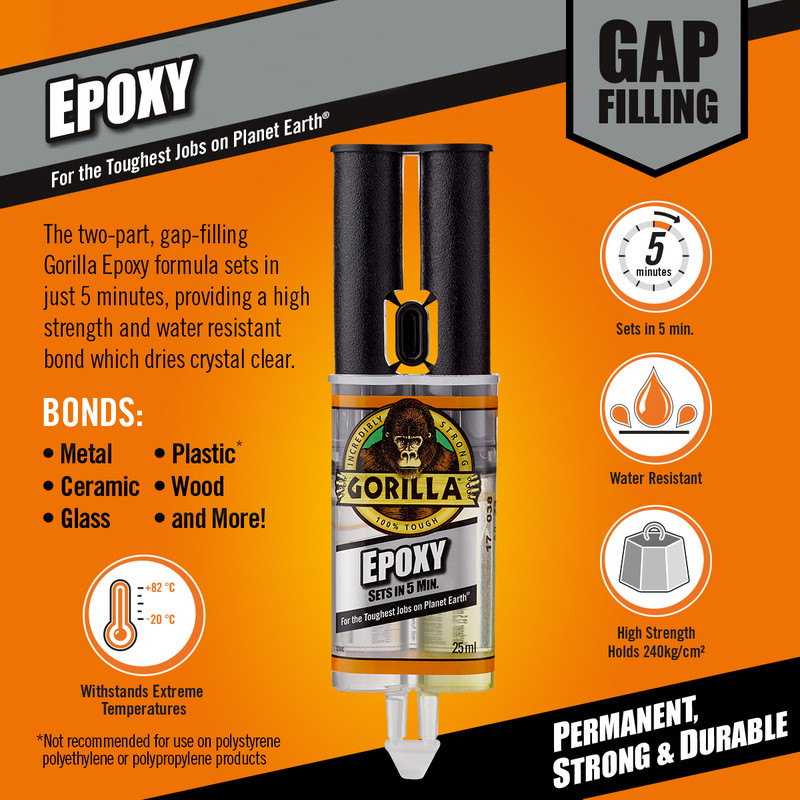 Gorilla Epoxy 5 Minute Resin Adhesive