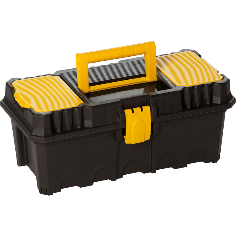 Olympia Toolbox with Lid Organiser and Tote Tray