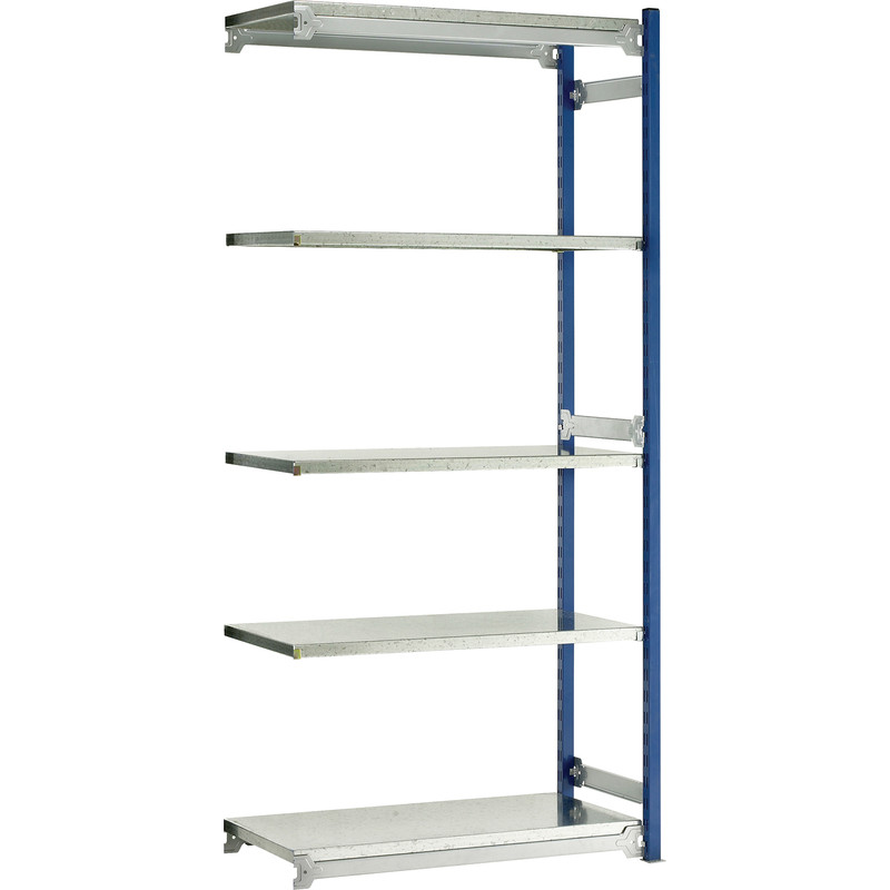 Barton Boltless Shelving Extension Bay 5 Tier