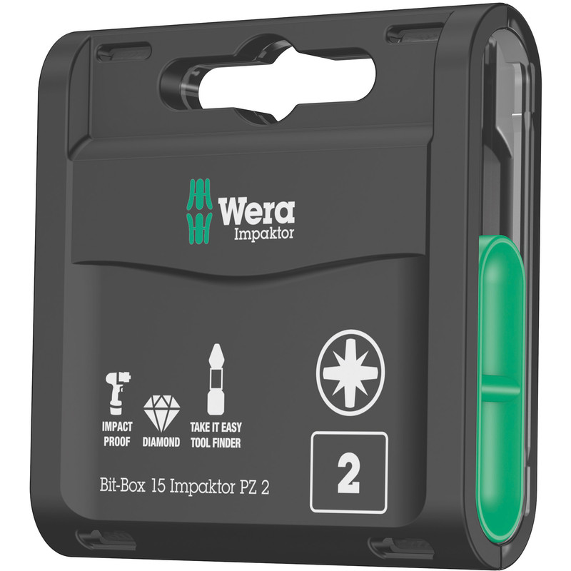 Wera Impaktor Diamond Screwdriver Bit Box