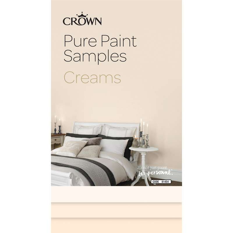 Crown Breatheasy Pure Paint Samples Creams