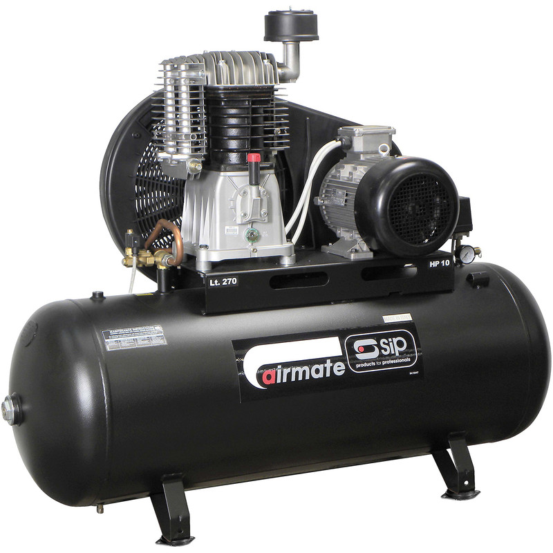 SIP 06587 Oil Lubricated Belt Drive 270L 10HP 3 Phase Compressor