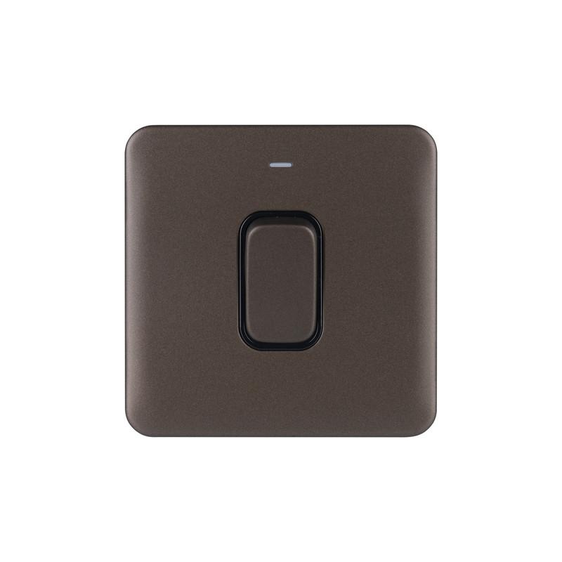 Schneider Electric Lisse Mocha Bronze Screwless 50A DP Switch