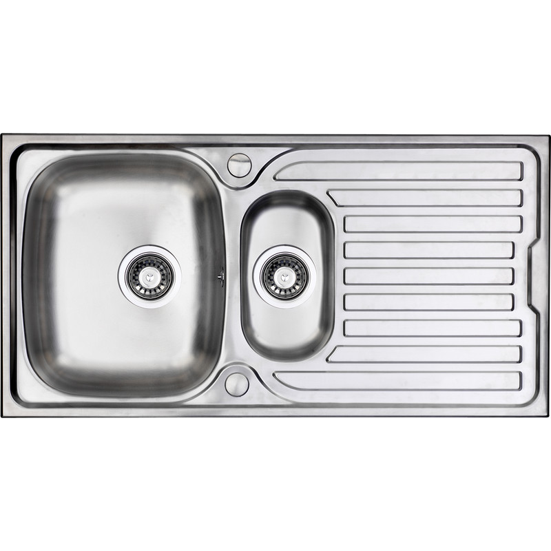 Stainless steel 1 12 bowl kitchen sink drainer 965 x 500 x 165mm deep workwithnaturefo