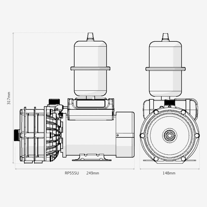 Salamander RP55SU Centrifugal Single Shower Pump