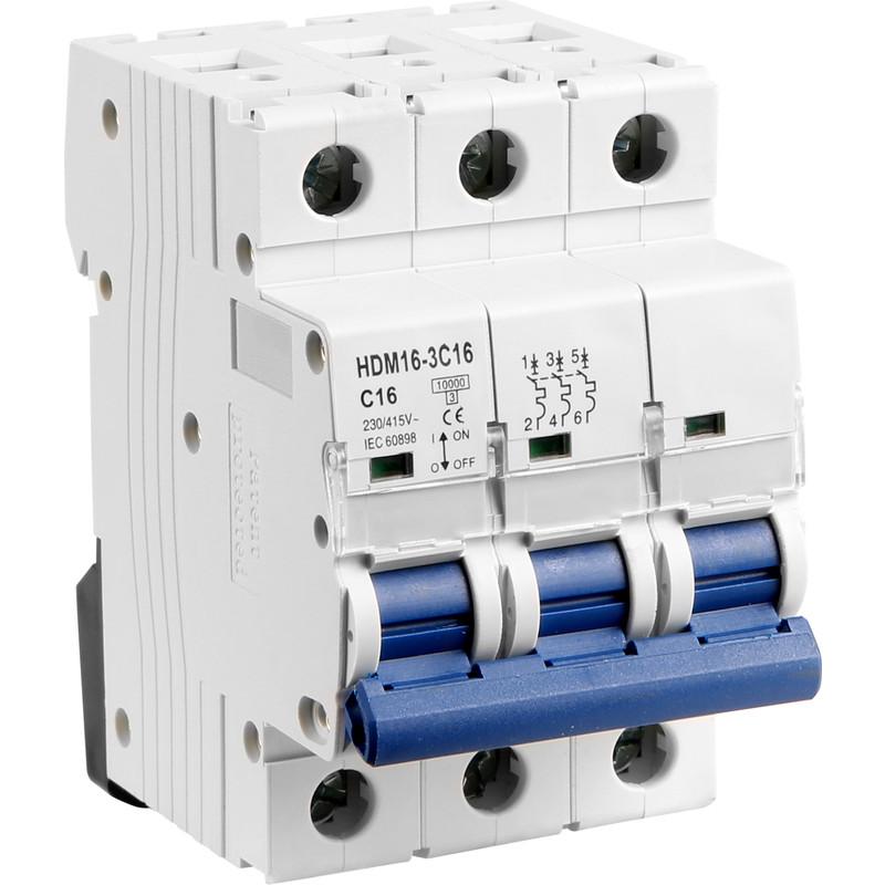 Protek Triple Pole MCB 10kA Type C