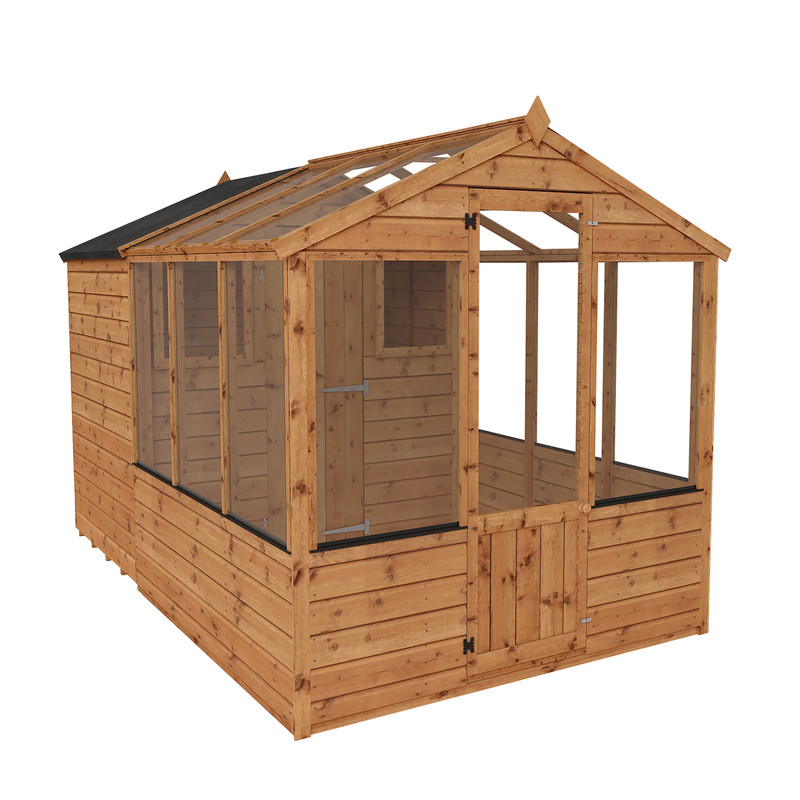 Mercia Traditional Apex Greenhouse Combi Shed