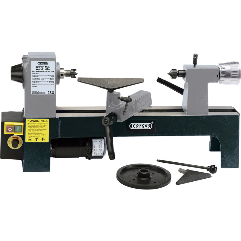 Draper 250W Variable Speed Mini Wood Lathe