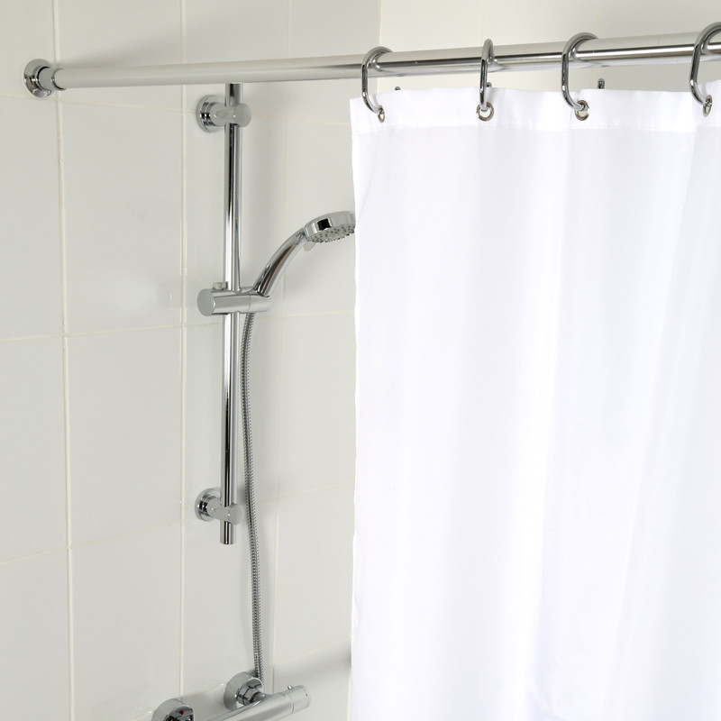 Croydex 2m Premium SS Shower Curtain Rail