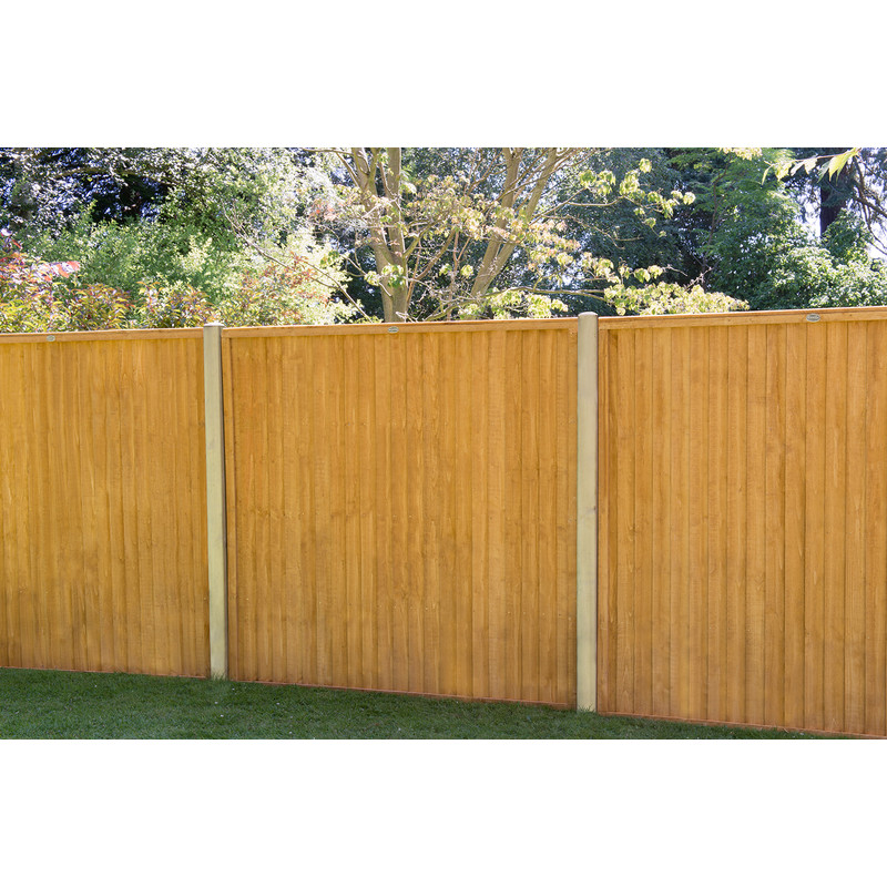 Forest Garden Closeboard Panel - 3 Pack