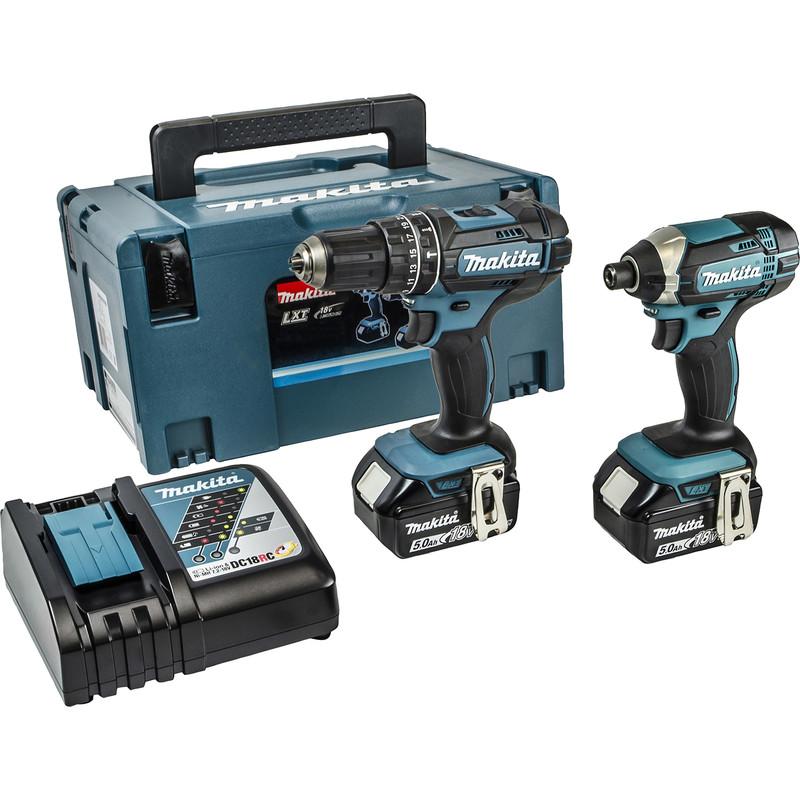 Makita 18V LXT Combi & Impact Diver Kit