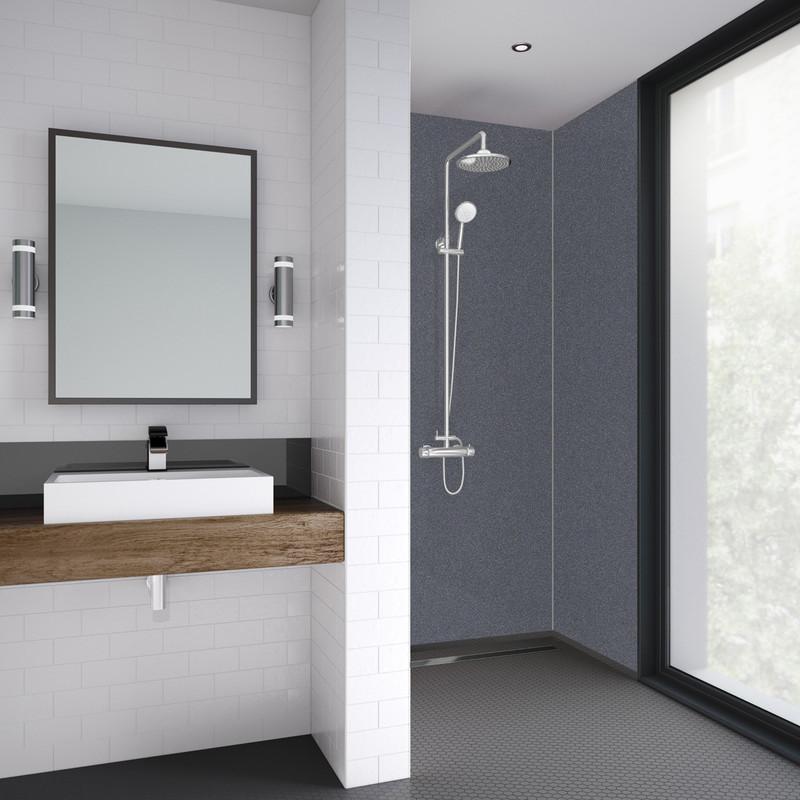 Mermaid Silver Dusk Laminate Shower Wall Panel