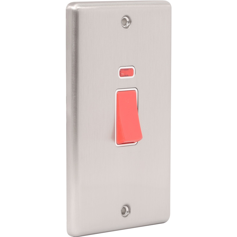 Wessex Brushed Stainless Steel 45A DP Switch