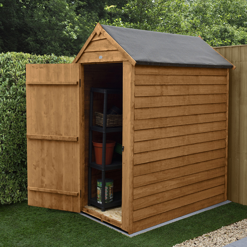 Forest Garden Overlap Dip Treated Apex Shed - No Window