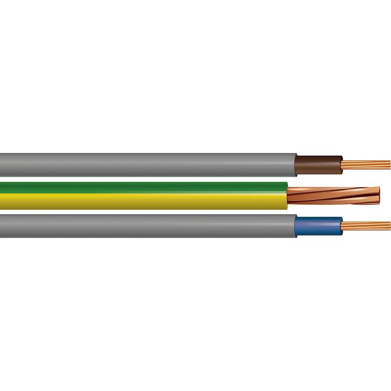50m Metre Drum 2.5mm ORANGE 240v 3 Core Round Flex PVC Cable Reel Wire UK 3183Y