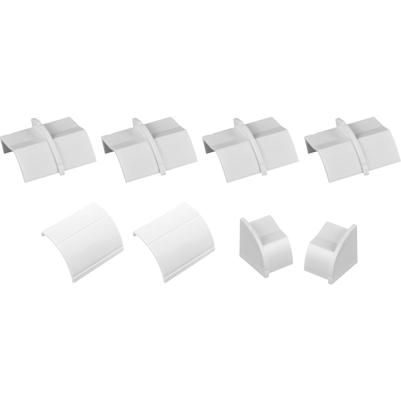 D-Line 1/4 Round Coupler, Inlet, Outlet & End Cap Pack