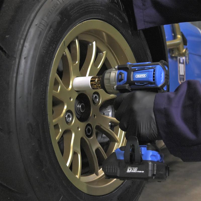 """Draper D20 20V Brushless 1/2"""" Impact Wrench"""