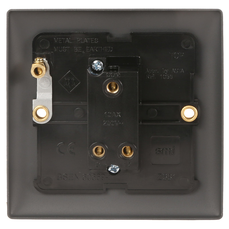 Power Pro Anthracite Plate 10A Switch
