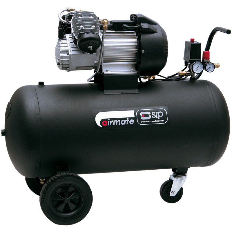SIP 05299 TN3/100-D Oil Lubricated 100L 3HP Compressor