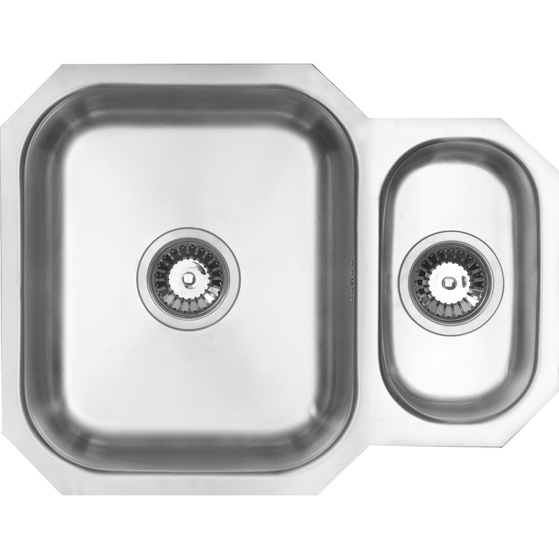 Undermount 1 12 bowl kitchen sink 594 x 460 x 195mm deep workwithnaturefo