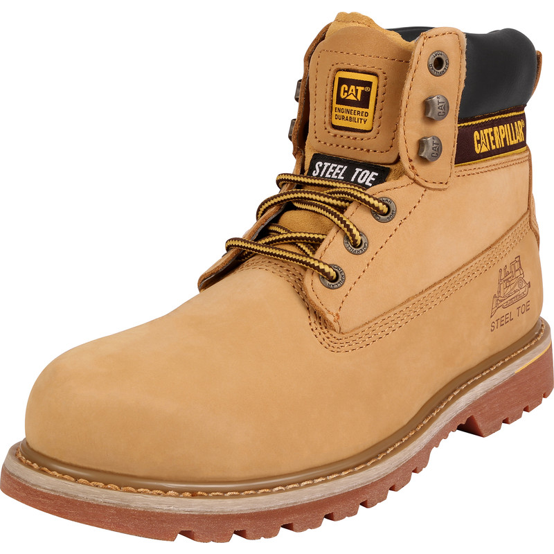 Caterpillar Holton Safety Boots Honey Size 9