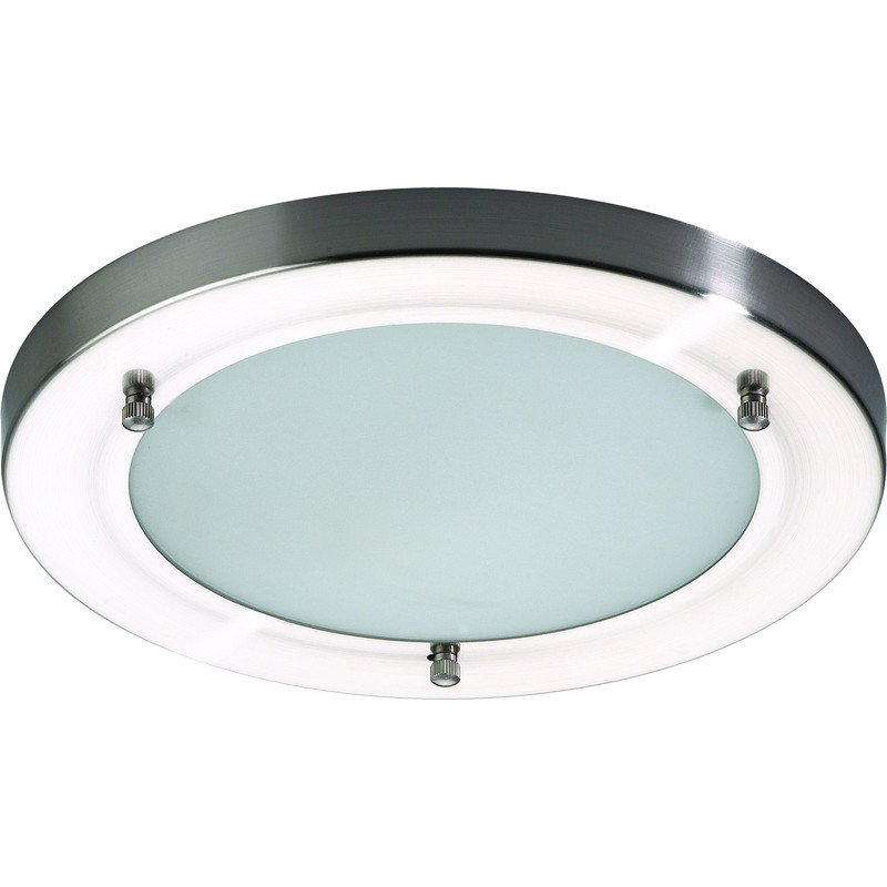 Mistral IP44 G9 LED Satin Nickel / Glass Bathroom Light