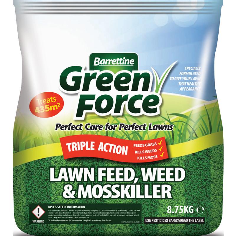 Barrettine Lawn Feed, Weed & Moss Killer