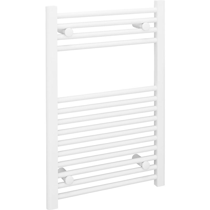 Kudox Flat Electric Towel Radiator: Kudox White Flat Ladder Towel Radiator