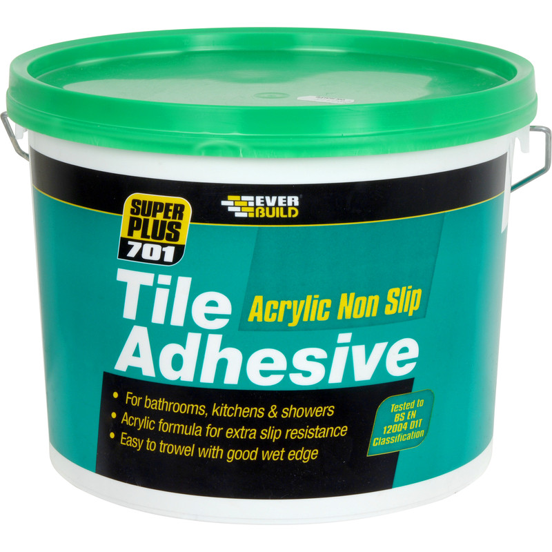 glue for bathroom tiles everbuild 701 non slip wall tile adhesive 5l 18522