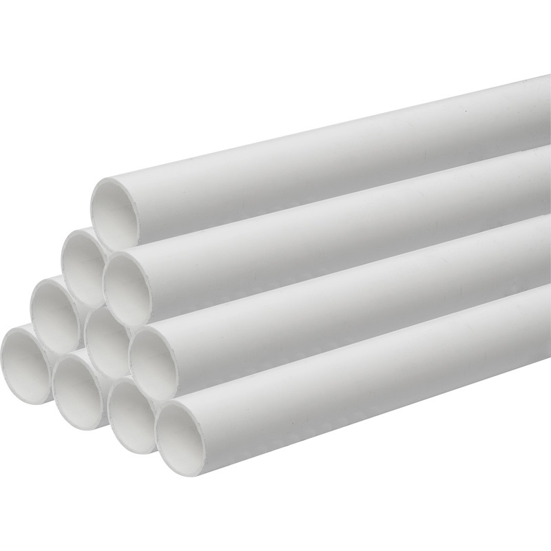 Solvent Weld Waste Pipe 30m 50mm x 3m White