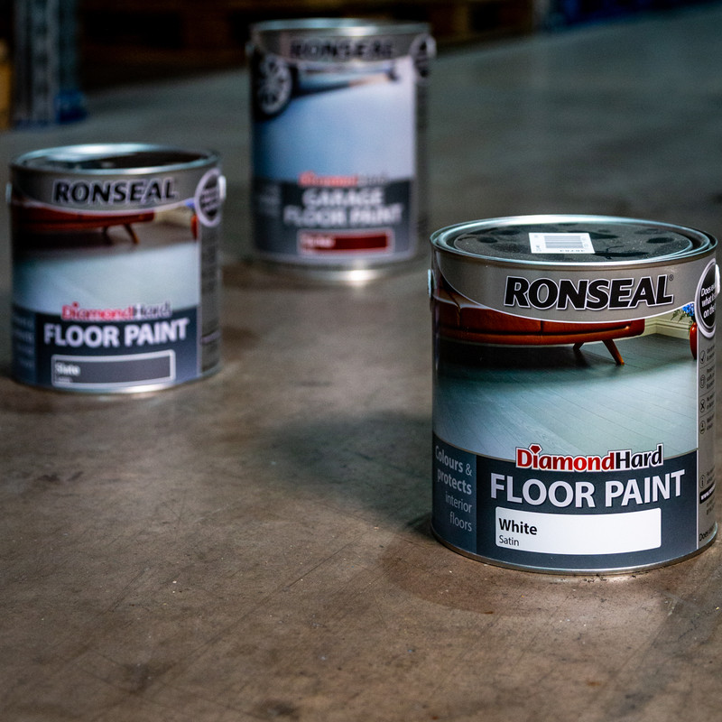 Ronseal Diamond Hard Floor Paint White 750ml
