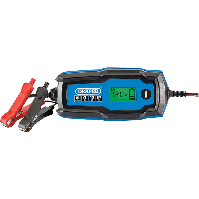 Draper 12V Smart Charger and Battery Maintainer, 4A