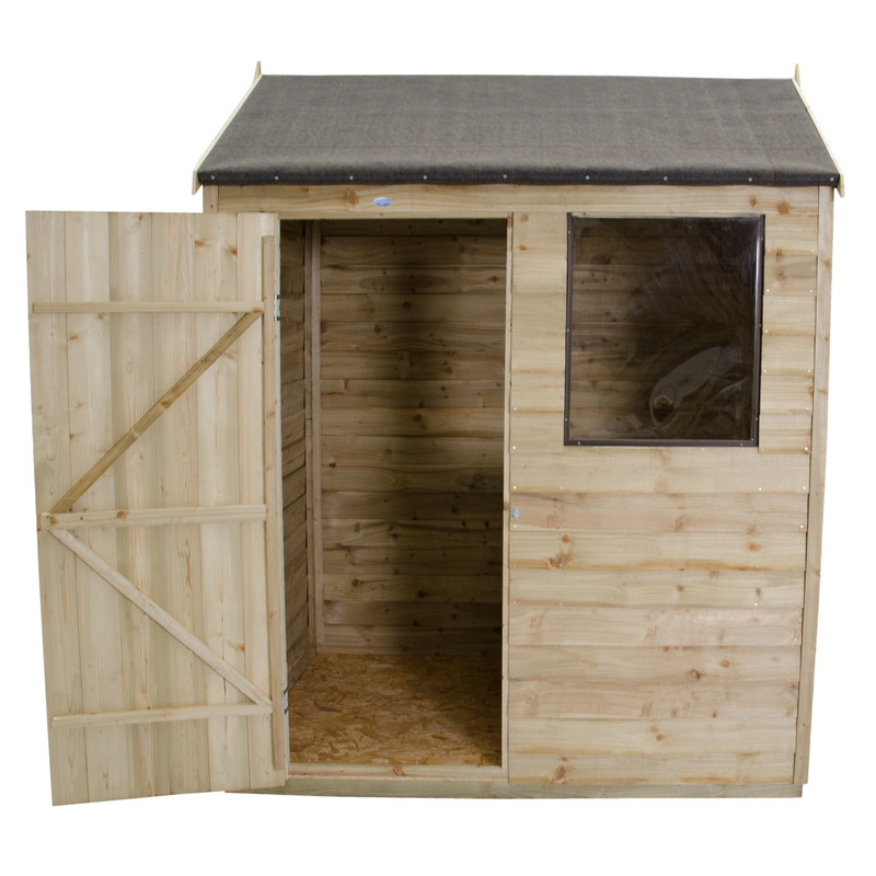 Forest Garden Overlap Pressure Treated Reverse Apex Shed