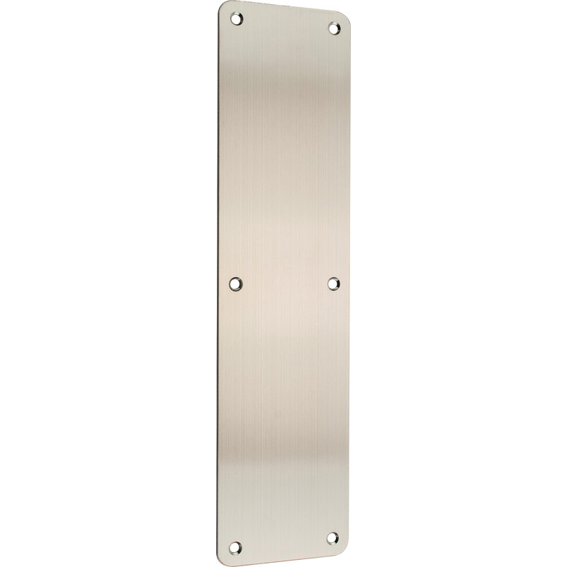 Stainless Steel Finger Plate Radius Corners