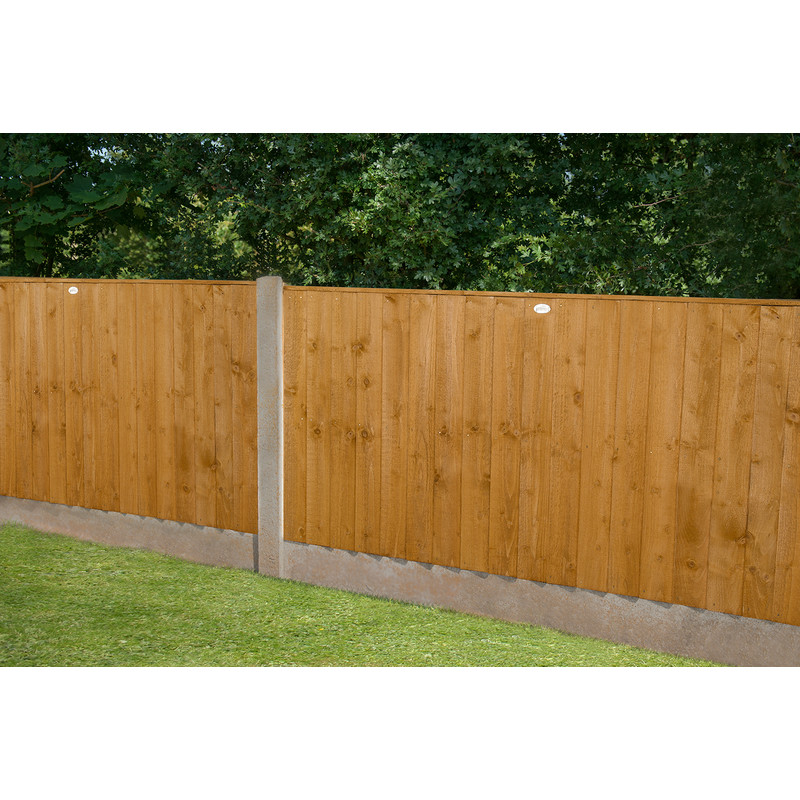 Forest Garden Featheredge Fence Panel - 4 Pack