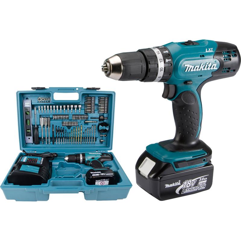 Makita LXT 18V Combi Drill & 101 Piece Accessories