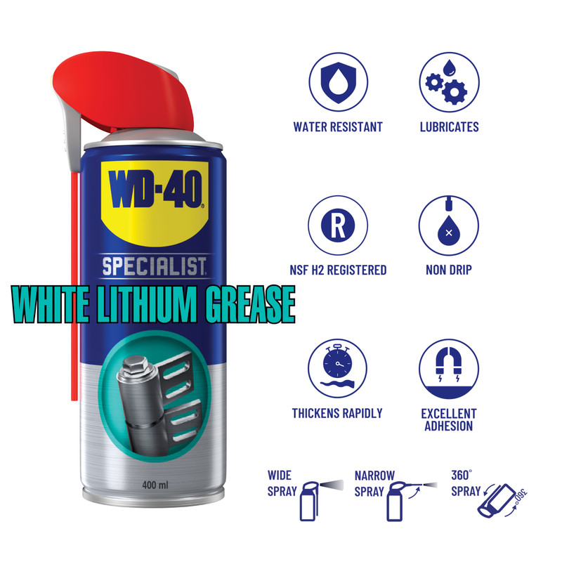 WD-40 Specialist High Performance White Lithium Grease