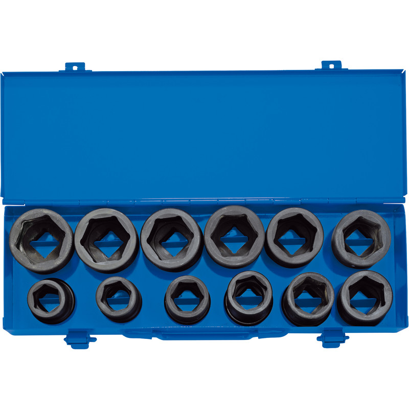 "Draper Expert 3/4"" Square Drive Combined MM/AF Impact Socket Set"