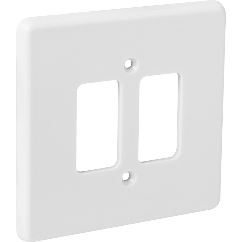 Crabtree Rockergrid Moulded Front Plate