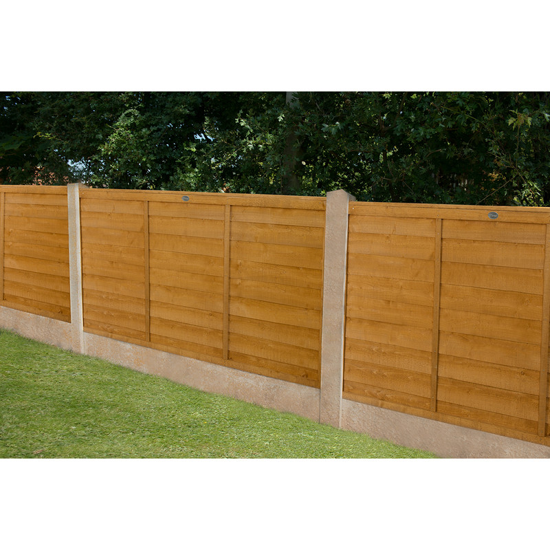 Forest Garden Overlap Fence Panel - 3 Pack